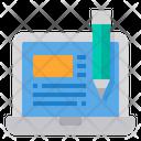 Laptop Blogger Writer Icon