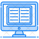 Online Book Electronic Book Online Library Icon