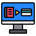 Computer Online Shopping Icon