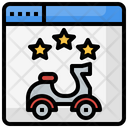 Online Book Motorcycle Icon