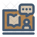 Untact Reading Time Reading Book Icon
