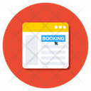 Online Booking Digital Booking Booking Website Icon
