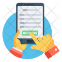 Online Booking Online Reservation Mobile Booking Icon