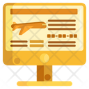 Online Booking Online Flight Booking Flight Booking Icon