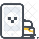 Mobile Application Taxi Icon