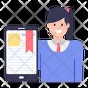 Online Bookmark Content Icon