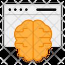 Online Brain Electronic Brain Digital Processor Icon
