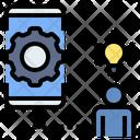 Online Brainstorming Team Collaboration Icon