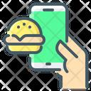Online Burger Border Icon