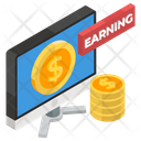 Online Business Online Earnings Online Trade Icon