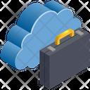 Cloud Computing Briefcase Icon
