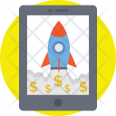 Business Launch Rocket Icon