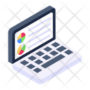 Online Business Notebook Computer Mini Computer Icon