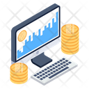 Digital Business Bitcoin Business Business Analytics Icon