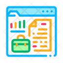 Online Business Company Case Icon