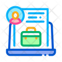 Online Business Business Case Icon