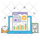 Online Business Analytics Icon
