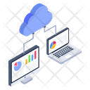 Cloud Business Online Business Data Business Analytics Icon