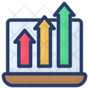 Online Business Growth Icon