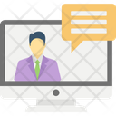 Online Business Help Online Consulting Online Support Solutions Icon