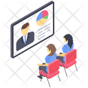 Business Lecture Business Conference Business Meeting Icon