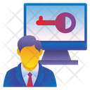 Bussnise Man Key Icon