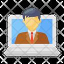 Online Businessman Icon