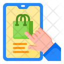 Shopping Mobilephone Bag Icon
