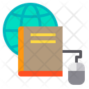 Book Mouse Globe Icon
