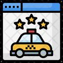Online Cab Book Icon
