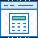Budget Calculator Online Calculation Icon