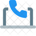 Online Call Communication Live Call Icon