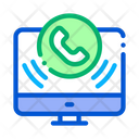 Computer Voip Calling Icon