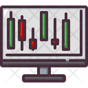 Online Candlesticks Icon