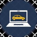 Online Car Autonomous Booking Icon