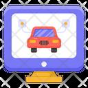 Online Automobile Online Car Online Vehicle Icon