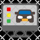 Computer Car Service Icon