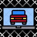 Laptop Screen Car Icon