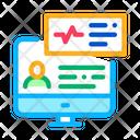 Cardio Analysis Internet Icon