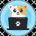 Online Cat Cat Laptop Kitten Icon