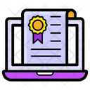 Online Award Online Certificate Deed Icon