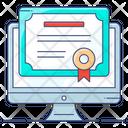 Online Certificate Award Certificate Certificate Icon