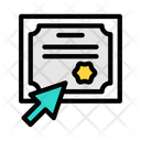 Online Certificate Online Certificate Icon