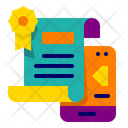 Online Certificate Certificate Education Icon