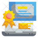 Online Certificate Certificate Experience Icon
