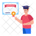 Online Degree Online Certificate Online Diploma Icon