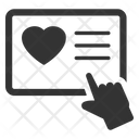 Online Charity Donation Icon