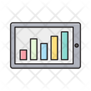 Mobile Barchart Phone Icon