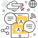 Online Chat Mobile Icon