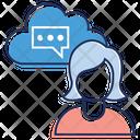 Cloud Communication Online Chat Online Conversation Icon